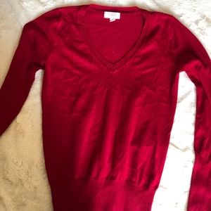 Cute Red V-Neck Sweater
